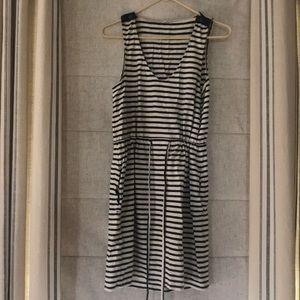J. Crew Dress / Beach Coverup black/white stripes